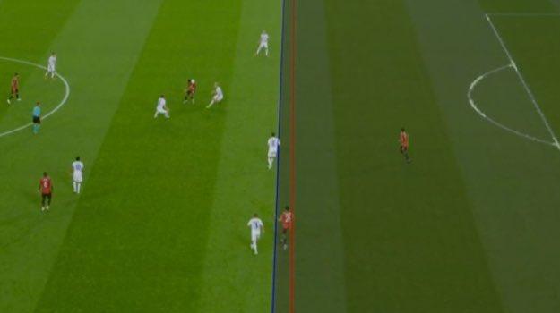 Greenwood saw his goal taken away by the VAR. Captura/Movistar