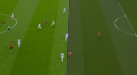 Greenwood saw his goal taken away by the VAR. Captura/Movistar