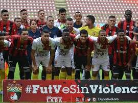 Deportivo Lara cayó 0-2 ante su rival. DeportivoLara