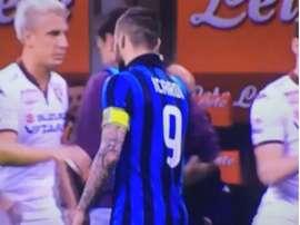 Maxi Lopez rejected Icardi's handshake. ESPN