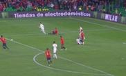 Sergio Ramos confirmó que no tocó a Sterling. Captura/TVE