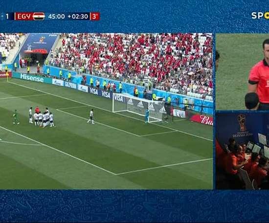 Un gol con mucho lío. Captura/SportTV
