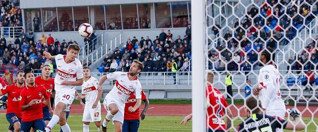Timofeev hizo el tanto de la victoria para el Spartak. FCSpartakMoscow