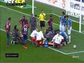 Diego Lopez était inconscient. Twitter/SportHD