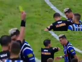 ¡El 'Burrito' Martínez fingió un codazo del árbitro!