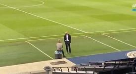 Sobre o que conversavam Zidane e Guardiola? Captura/Vamos
