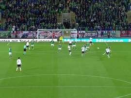 Rudy abriu o marcador com um grande gol. Twitter