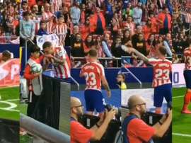 Trippier is on Atletico Madrid fans' good side. Screenshot/Lauragtemprano