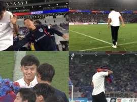 O jogador despediu-se do FC Tokio com estádio lotado. Captura/J_League