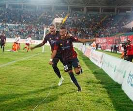 Monagas venció a Caracas por 1-2. Monagas