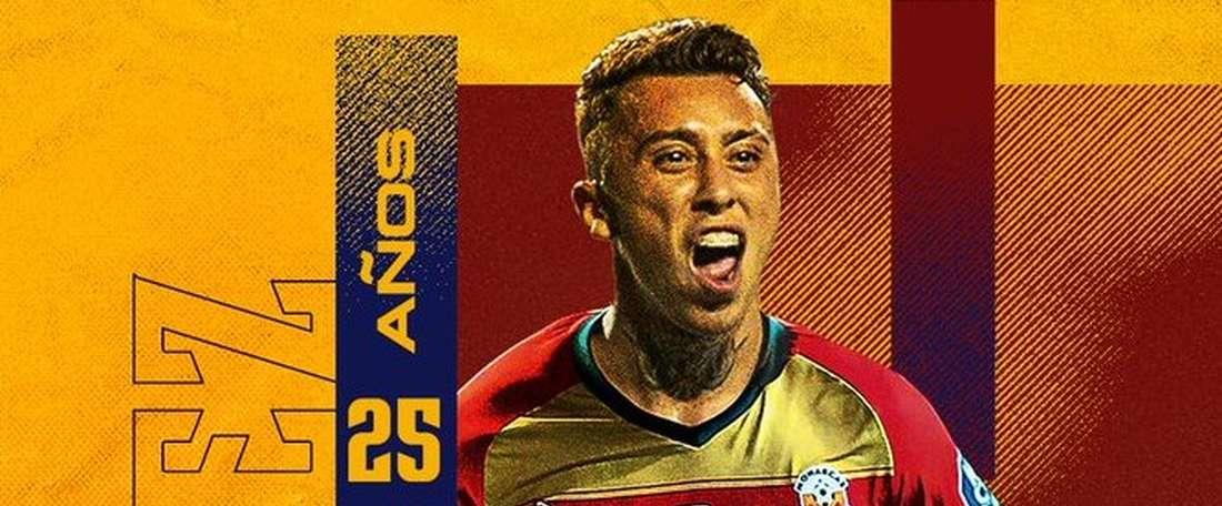 Martín Rodríguez jogará com Valdívia. Twitter/MonarcasMorelia