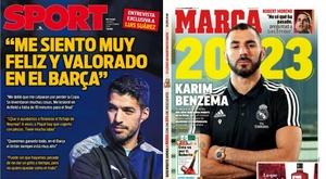 Capas de Sport e Marca de 22/11/19. Sport/Marca