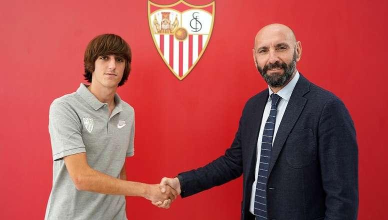 Bryan Gil renovó hasta 2023. SevillaFC