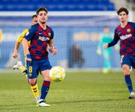 Monchu é alvo de dois times da Premier League. Twitter/FCBarcelonaB