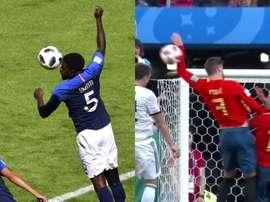 Piqué et Umtiti, faits dans le même moule ? Capture/AFP/BeSoccer