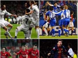 Montage des remontadas du Real Madrid, Deportivo La Corogne, Liverpool et Barça. BeSoccer