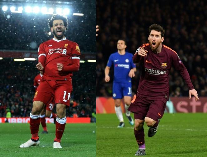 Salah e Messi, os melhores marcadores na Europa. BeSoccer