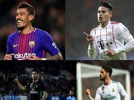 Paulinho, Rodriguez, Asensio and Isco haven't scored in Europe this year. BeSoccer