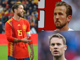 Ramos, Kane and Neuer are all captains. BeSoccer