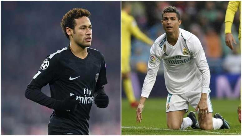 Neymar e CR7 poderiam trocar de clubes na próxima época. BeSoccer