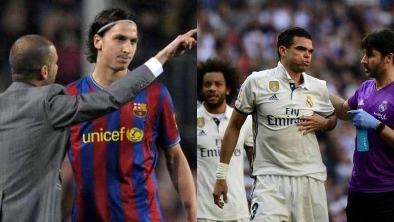 Cinq stars qui ont critiqué leurs anciens clubs. AFP/EFE