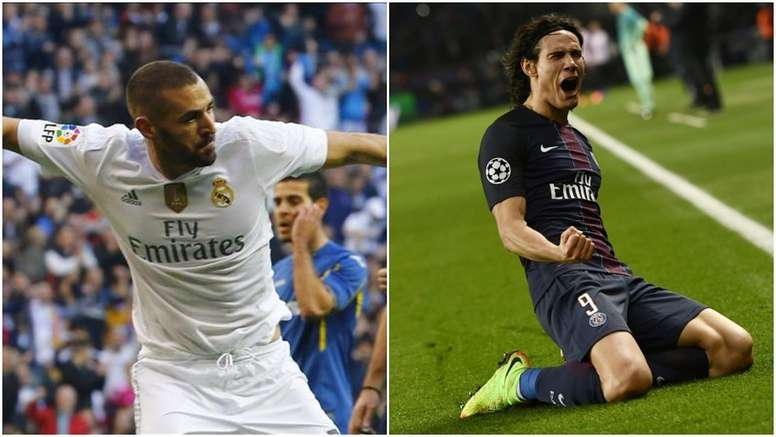 Benzema and Cavani. BeSoccer