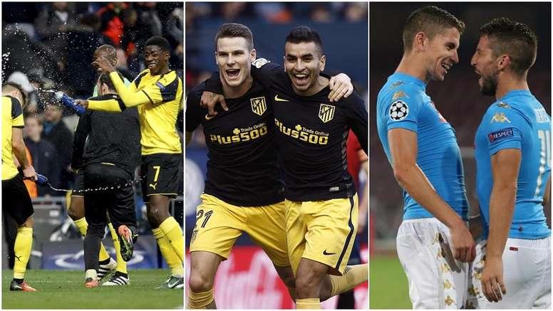 Borussia Dortmund, Atletico and Napoles. BeSoccer
