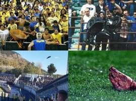 La liste des 10 choses impensables qui ont été jeté sur un terrain de foot. AFP