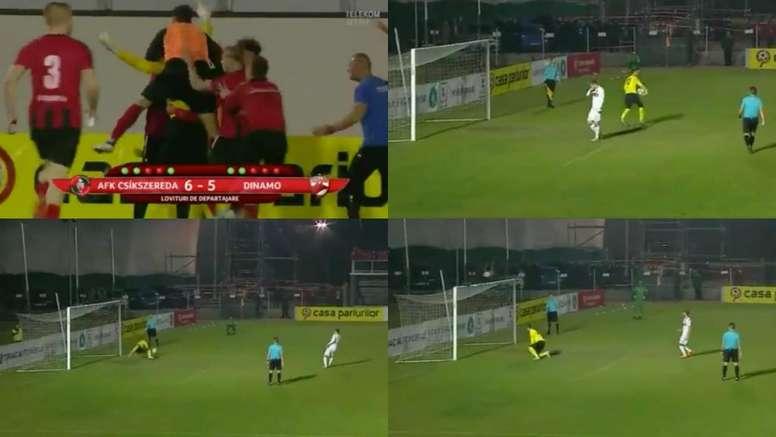 El Dinamo de Bucarest vivió una pesadilla. Capturas/TELEKOM
