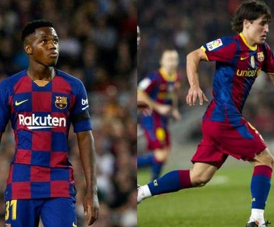 O Barça quer evitar que Ansu Fati seja um novo Bojan. AFP/FCBarcelona