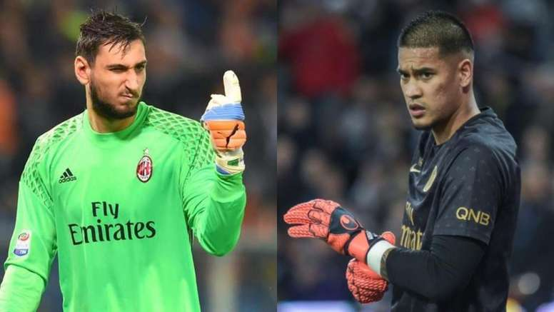 The swap between Areola and Donnarumma. AFP