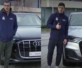 Bale and Jovic, happy with their new cars. Captura/RealMadrid