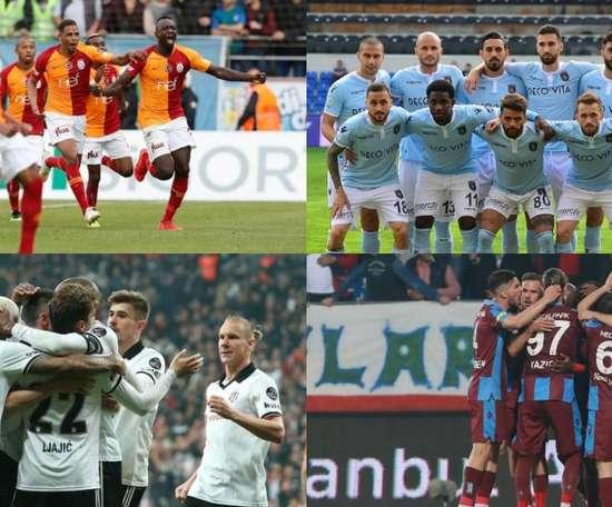 Les quatre équipes turques qui joueront l'Europe. Galatasaray/Superlig
