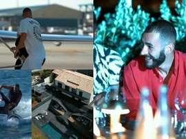 As maravilhosas férias de Benzema. Instagram/karimbenzema