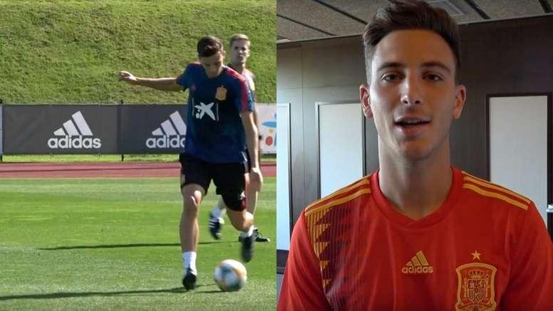 Pau Torres está viviendo el sueño de  un niño con España. Capturas/Twitter/SeFutbol
