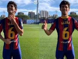 Aleñá llevará el '6' esta temporada. Twitter/FCBarcelona_es