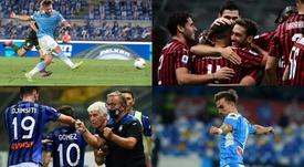 Este es el once por estadísticas de la Serie A 2019-20. EFE/AFP