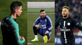 Três estrelas no mesmo lugar. AFP/EFE