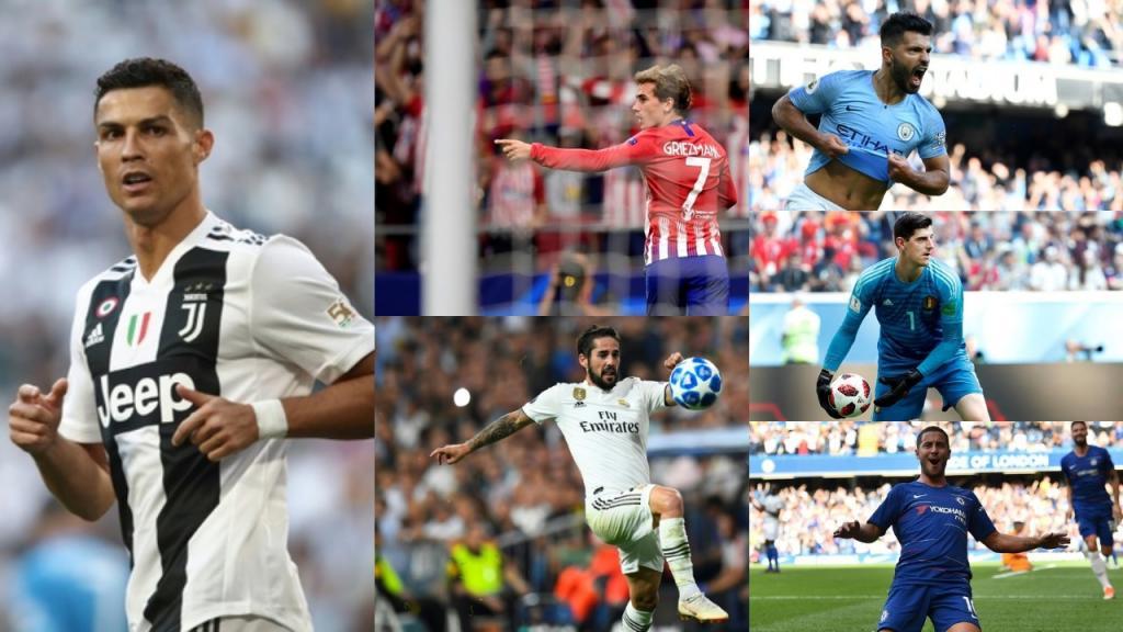 Cristiano, Messi y Neymar encabezan nominados al Balón de Oro