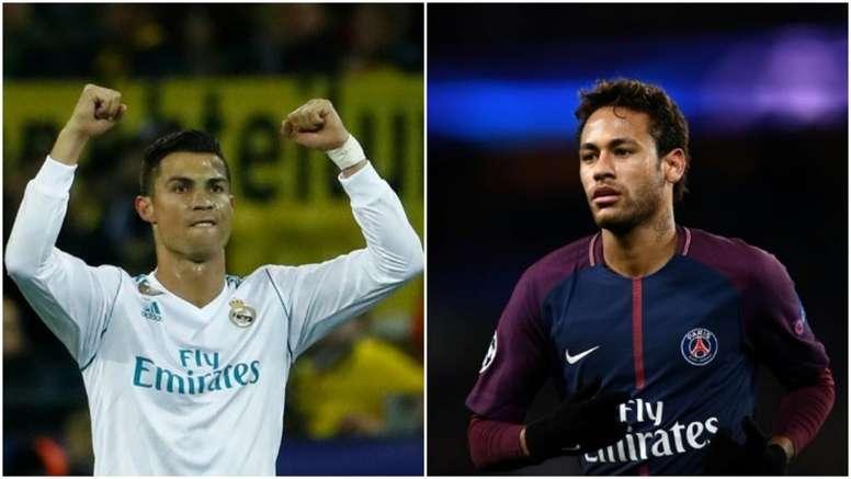 Cristiano y Neymar quieren reinar en la Champions. BeSoccer