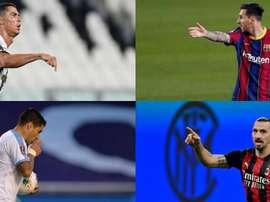 I 10 giocatori che hanno segnato più triplette. EFE - AFP