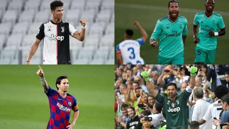 Le leggende della Champions League. EFE-AFP