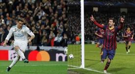 Cristiano Ronaldo e Leo Messi foram os grandes cobradores dos gigantes espanhóis. AFP - EFE