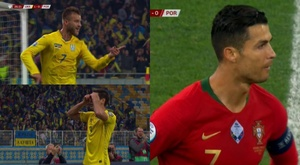 Ucrania se comió a Portugal. Capturas/ESPN/FutbolMediaset