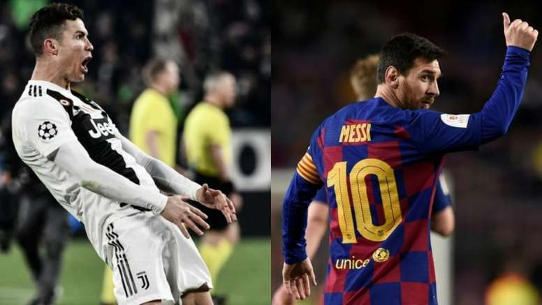 Goal di Messi vs Ronaldo nella fase finale della Champions League. EFE