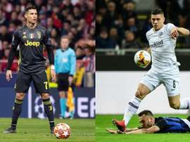 Ronaldo trails Jovic in this season's statistics. EFE-AFP