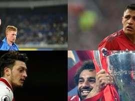 Os dez jogadores mais bem pagos da Premier League. AFP