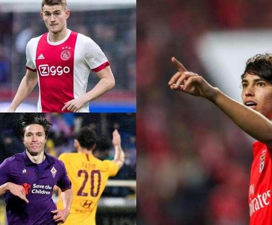A Juve 2.0 de Cristiano: De Ligt, Joao Félix e Chiesa. EFE-AFP