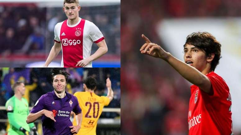 Juve are already planning ahead by looking at de Ligt, Chiesa and João Félix. EFE-AFP.