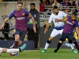 30 millions pour les deux Barcelonais. AFP